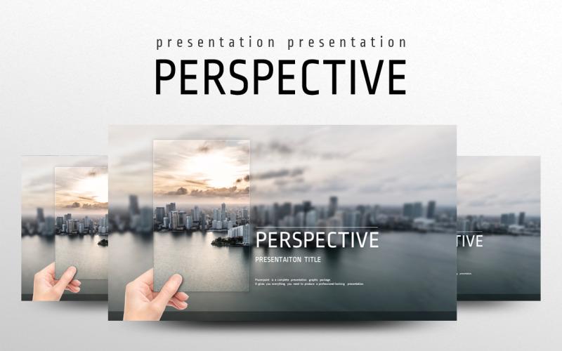 Plantilla de PowerPoint - perspectiva