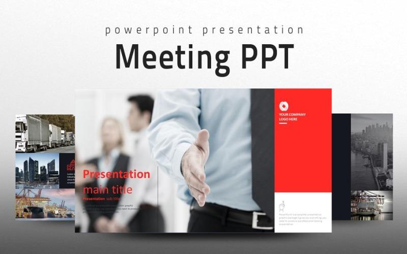 Plantilla de PowerPoint - presentación de la reunión