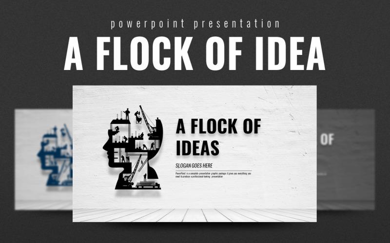 Plantilla de PowerPoint - una bandada de ideas