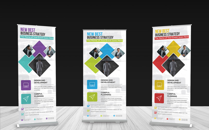Roll-up Banner - Corporate Identity Template