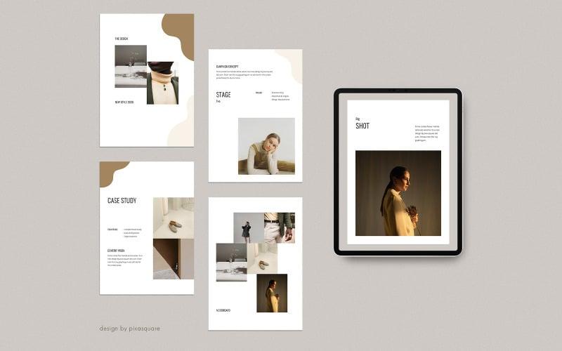 UNIA - Plantilla de PowerPoint A4 Vertical Media Kit