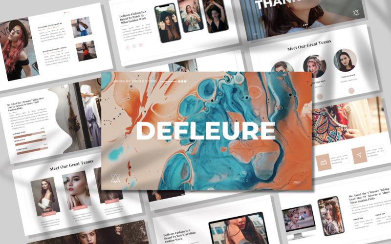 Defleure - Minimalista - Plantilla Keynote