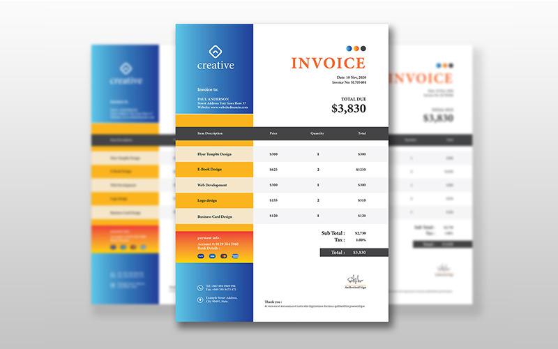 Diseño de facturas - Plantilla de identidad corporativa