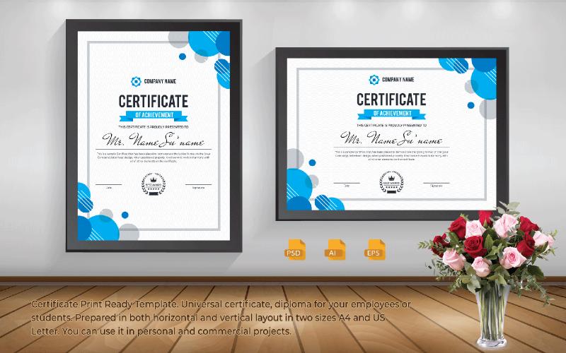 Imprimir plantilla de certificado
