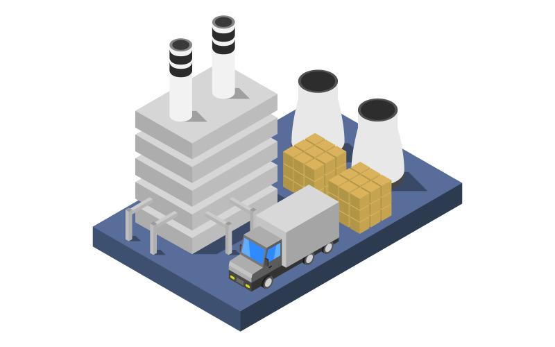 Industria isométrica - imagen vectorial