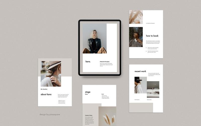 KARA - A4 Vertical Media / Press Kit T - Plantilla de Keynote