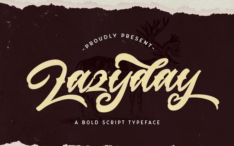 Lazyday - Bold Cursive Font