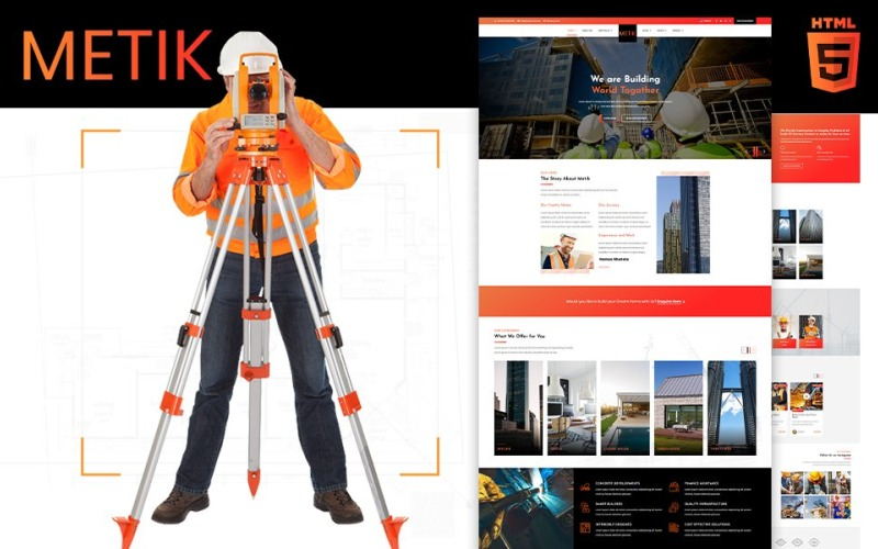 Metik   Plantilla de sitio web HTML5 de construcción