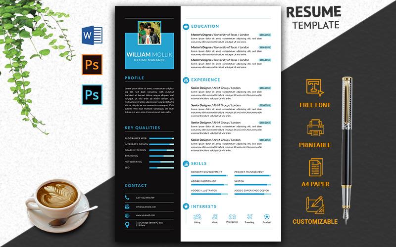 Plantilla de CV profesional y creativa