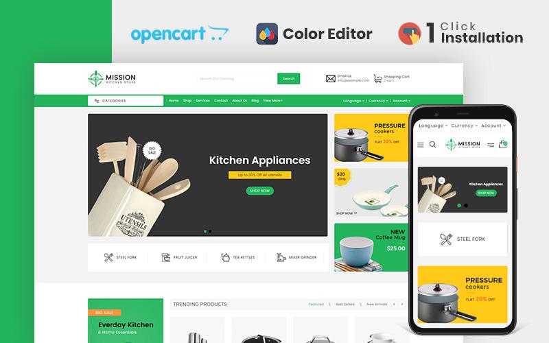Plantilla OpenCart de Mission Kitchen Store