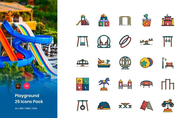 Conjunto de iconos de paquete de juegos
