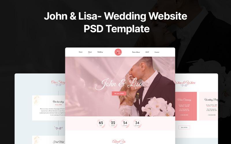Джон и Лиза- Свадебный PSD PSD шаблон