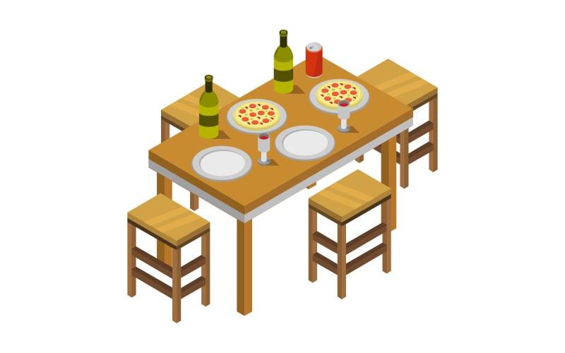 Mesa de cocina - imagen vectorial