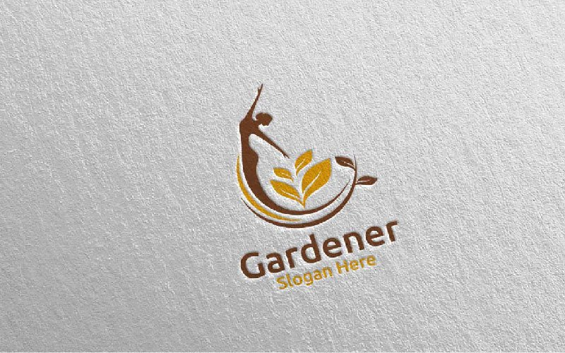 Plantilla de logotipo de Fairy Botanical Gardener Design 13