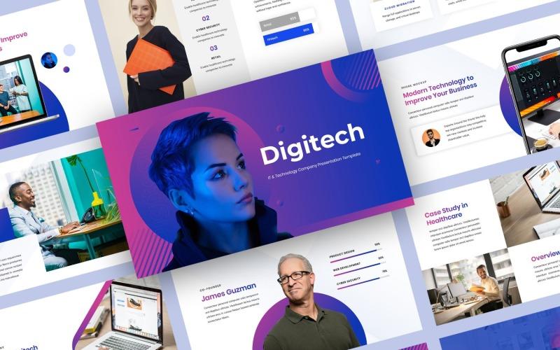 Plantilla de PowerPoint - presentación de empresa de tecnología y TI
