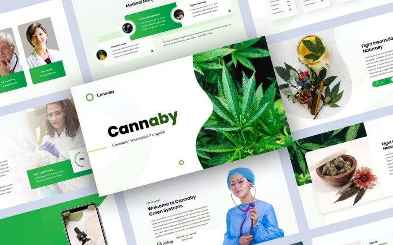 PowerPoint-sjabloon voor cannabispresentatie