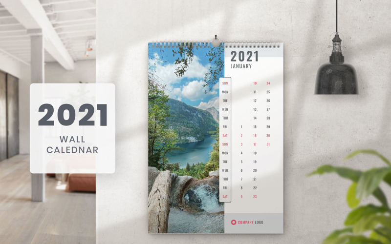 Wall Calendar 2021 Template Planner