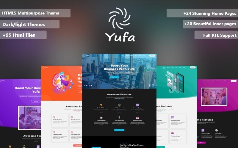 Yufa Multipurpose Html5 Responsive Website Template