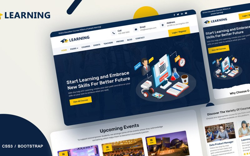 E-learning Online courses Website Template