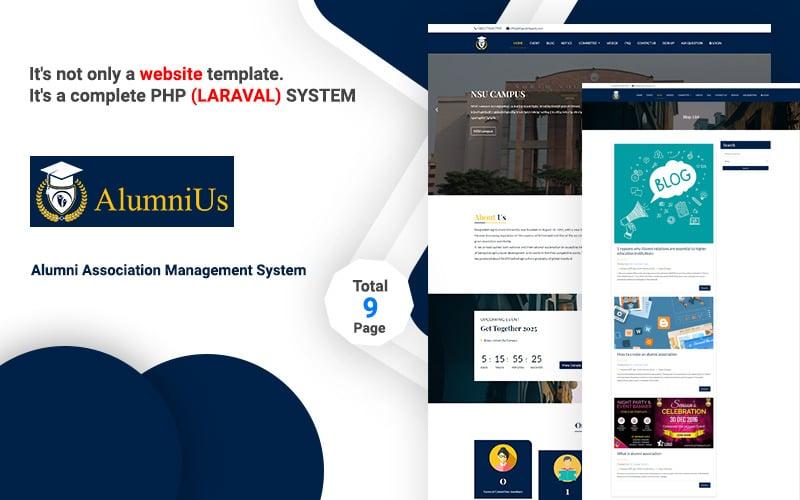 Plantilla de sitio web del sistema de gestión de asociaciones Alumnius- Laravel