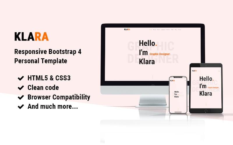 Klara | Responsive Bootstrap 4 Portfolio One Page Website Template
