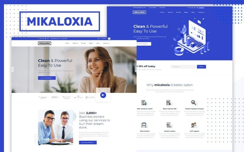 Mikaloxia   Multipurpose Business HTML5 Website Template