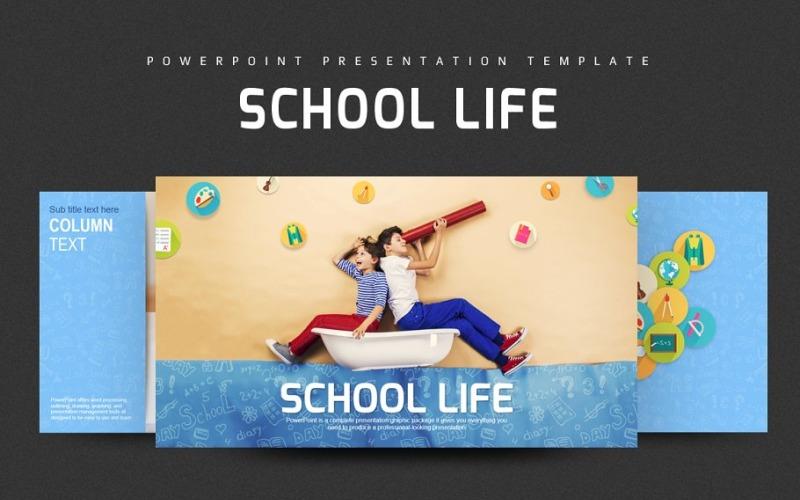 School Life PPT PowerPoint-sjabloon