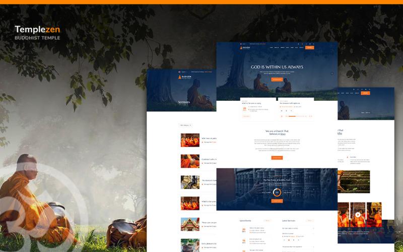 Templezen - Szablon strony religijnej HTML5 Temple
