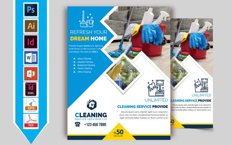 Листовка об услугах по уборке Vol-06 - Шаблон фирменного стиля