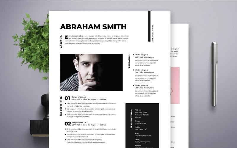 Abraham Smith Ui Ux Designer Resume Template 108378