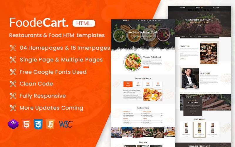 FoodeCart - Restaurants & Food Responsive HTML Website Template