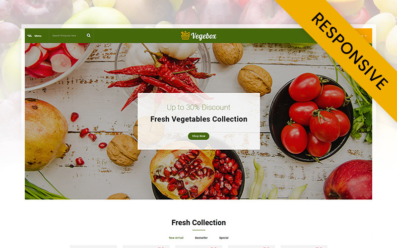 Vegebox - Fresh Vegetables Store OpenCart Template