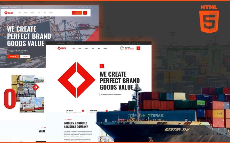 Delco | Logistics and Cargo HTML5 Website Template