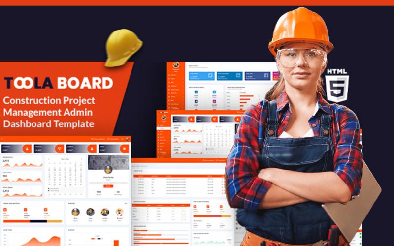 Toola Board - Construction HTML5 Admin Template