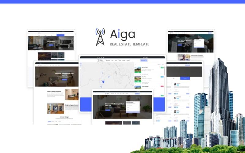 Aiga - Real Estate HTML5 Website Template