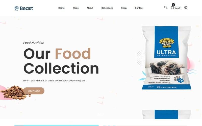 Beast - Pet Food Shopify Theme