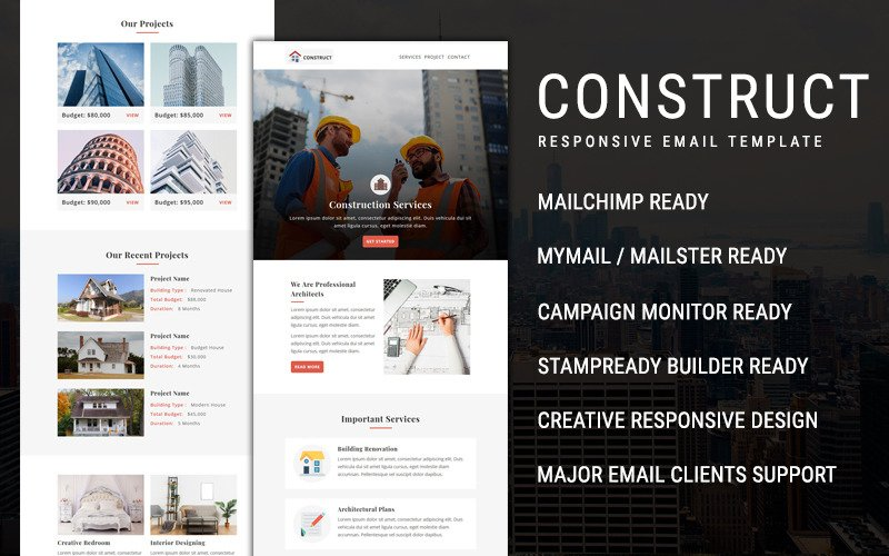 Construct  - Email Newsletter Template