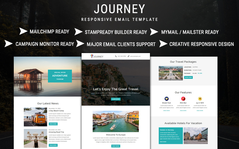 Journey - E-mail nieuwsbriefsjabloon
