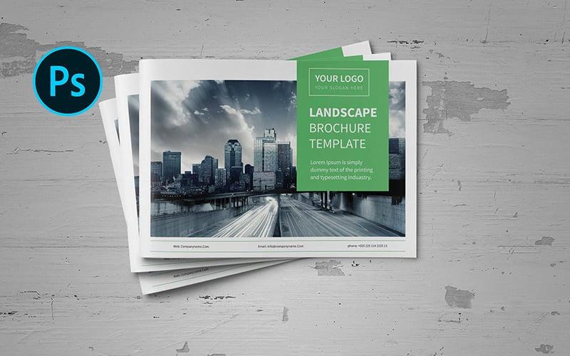 A5 Business Landscape Brochure - Corporate Identity Template