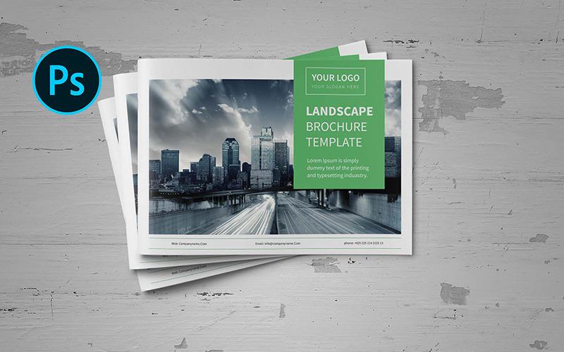 Брошюра A5 Business Landscape - шаблон фирменного стиля
