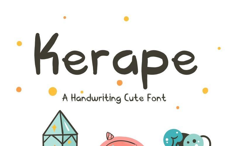Kerape handgeschreven lettertype