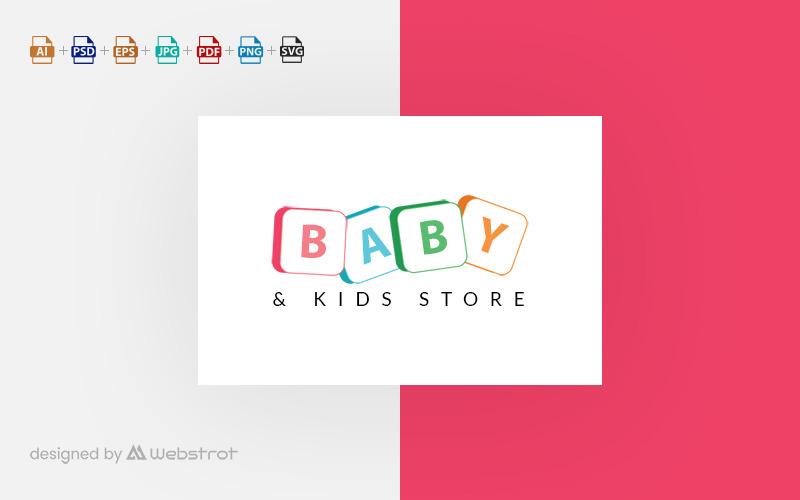 Шаблон логотипа детского магазина
