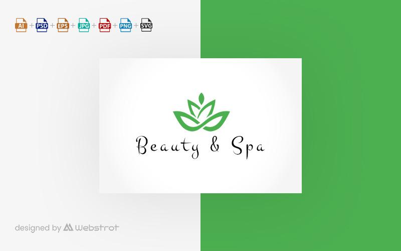 Шаблон логотипа красоты и спа