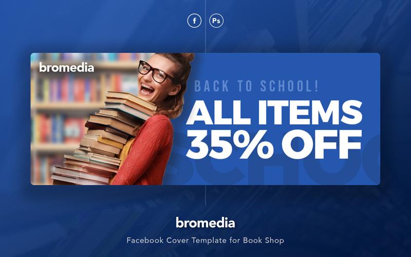 Bromedia - Шаблон обложки книжного магазина Facebook для социальных сетей