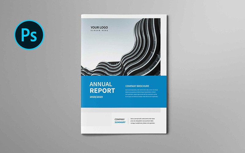 Брошюра к годовому отчету - шаблон фирменного стиля