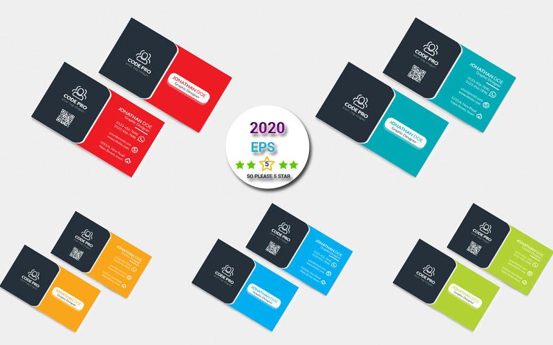 Pest Color Business Card - Corporate Identity Template