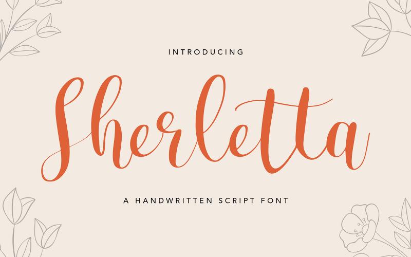 Рукописный шрифт Sherletta