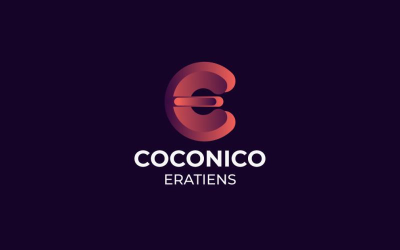 Буква C + E шаблон логотипа