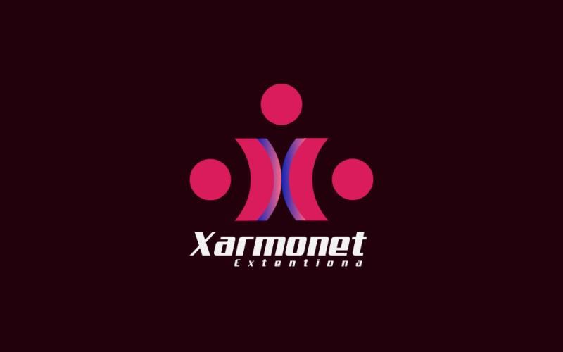 Буква X шаблон логотипа