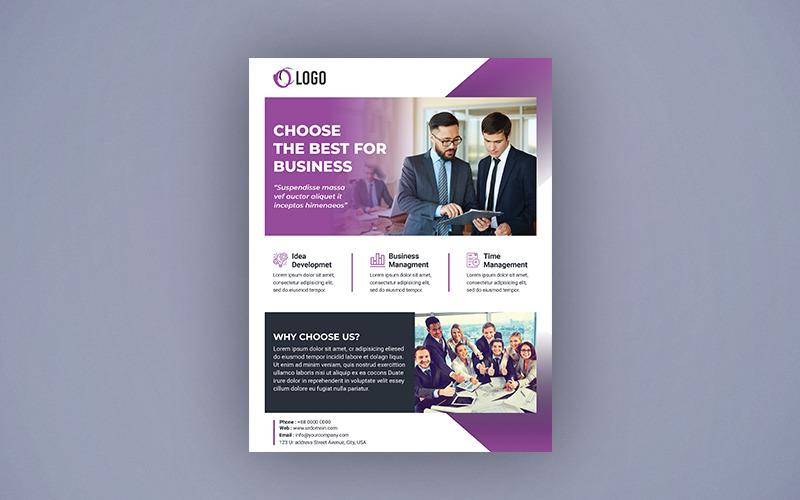 Дизайн бизнес-флаера - шаблон фирменного стиля